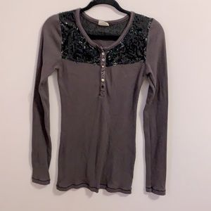 Free people sequence waffle top